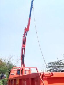 truk foco crane tampak samping kiri